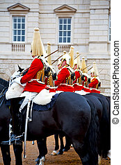 in london england horse and cavalry the queen