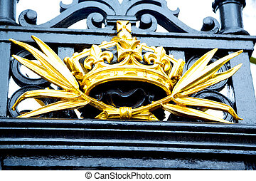 in london england the old metal gate