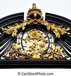 in london england the old metal gate  royal palace