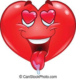 In love heart
