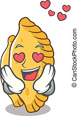 In love pastel mascot cartoon style vector illustration