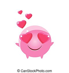In Love Round Character Emoji