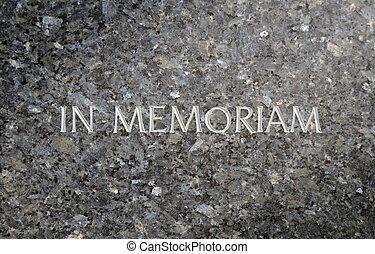 In Memoriam Inscribed In A Marble Grave Stone