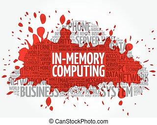 in-memory, informática, palabra, nube