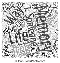in memory of Word Cloud Concept