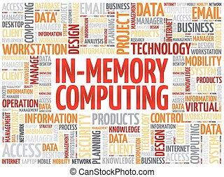 in-memory, palabra, nube, informática