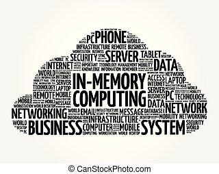 in-memory, słowo, chmura, obliczanie