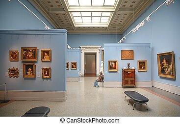 in, museum