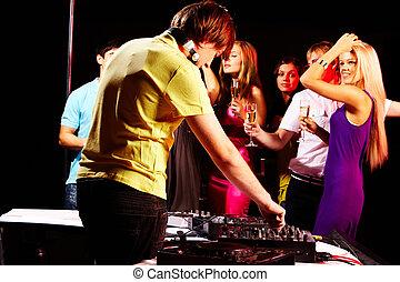 In night club