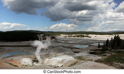 Porcelain Basin - In Norris Geyser Basin area, the Porcelain...