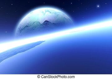 In Orbitum 2 - An Alien moon over the Horizon