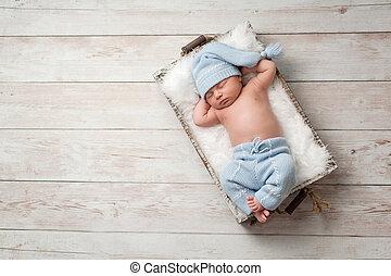 in pausa, bambino neonato, il portare, pigiama