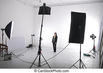in photo studio