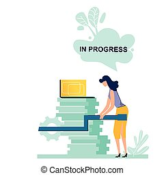 In progress business concept vector illustration. Part of...