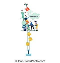 In progress business concept vector illustration