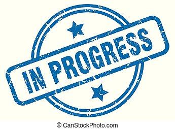 in progress grunge stamp