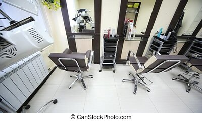 In salon hairdressing salon there are three workplaces
