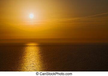 in santorini greece sunset
