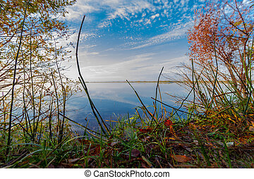 In September, the lake