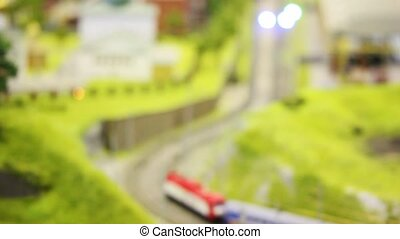 in small model sity two trian goes on meeting each other...