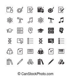 in staat stellen, normaal, iconen, state., included, opleiding