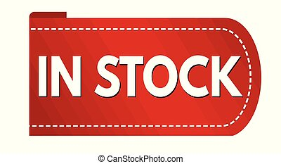 In stock banner design on white background, vector...