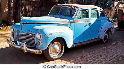 in, sudafrica, vecchio, abbandonato, macchina vendemmia