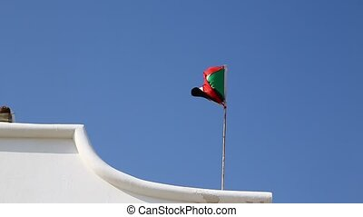 flag waving in the wind