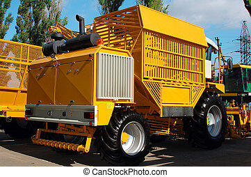 combines - in summer in the Ukraine took place the...