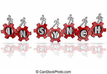 In Synch Workers Team Organization Common Shared Mission...