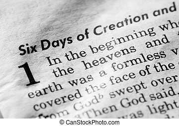 In the Beginning - Genesis 1:1 - In the beginning, and old,...