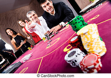 In the casino - Photo of player staking with fashionable ...