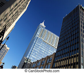 In the city - Tall buildings in the city of Raleigh