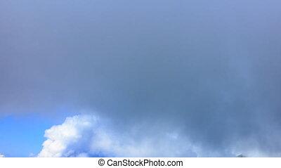 In the clouds, Time Lapse. Sochi, Russia