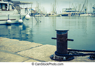 in the harbour