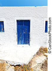 in the isle of greece   old house   color