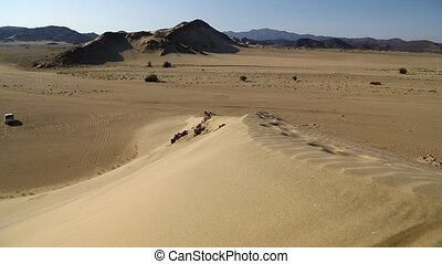 in the middle of the desert rock and track like concept of...