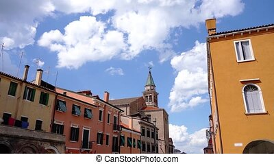 In the middle of the houses of the ancient city Chioggia