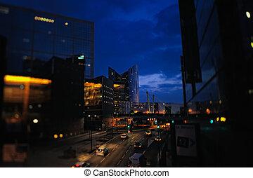 In the nighttime