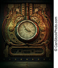 In the old Days, 3d CG - 3d computer graphics of a clock in ...