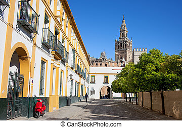 In the Old Town of Seville