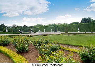 In the park of palace complex Versailles