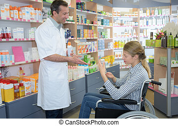 in the pharmacy