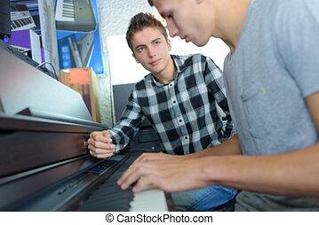 in the piano lesson