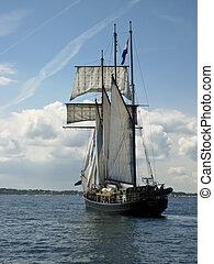 In the port of Kiel, Germany