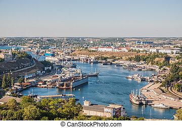 In the port of Sevastopol