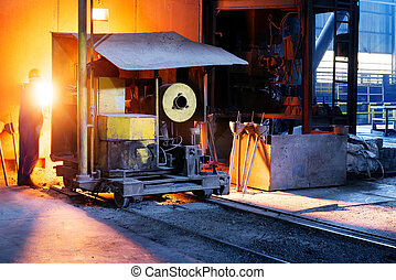 In the production of steel mills
