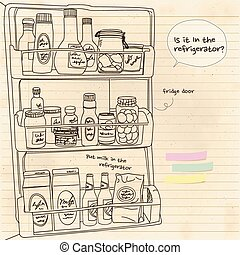 In the refrigerator