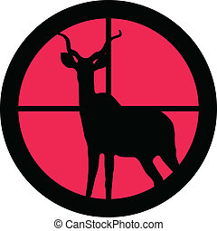 In the scope series - Kudu / Koedoe in the crosshair of a gun?s telescope. Can be symbolic for need of protection, being tired of, intolerance or being under investigation.
