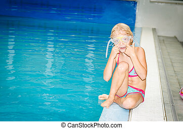 in the swimming pool